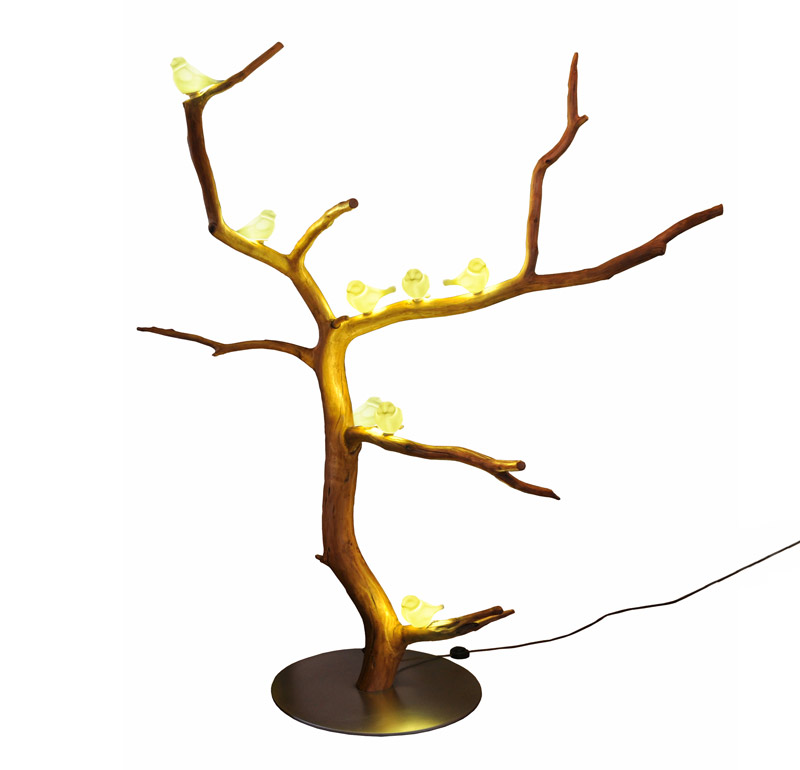 Lampade da terra in legno Kenosi