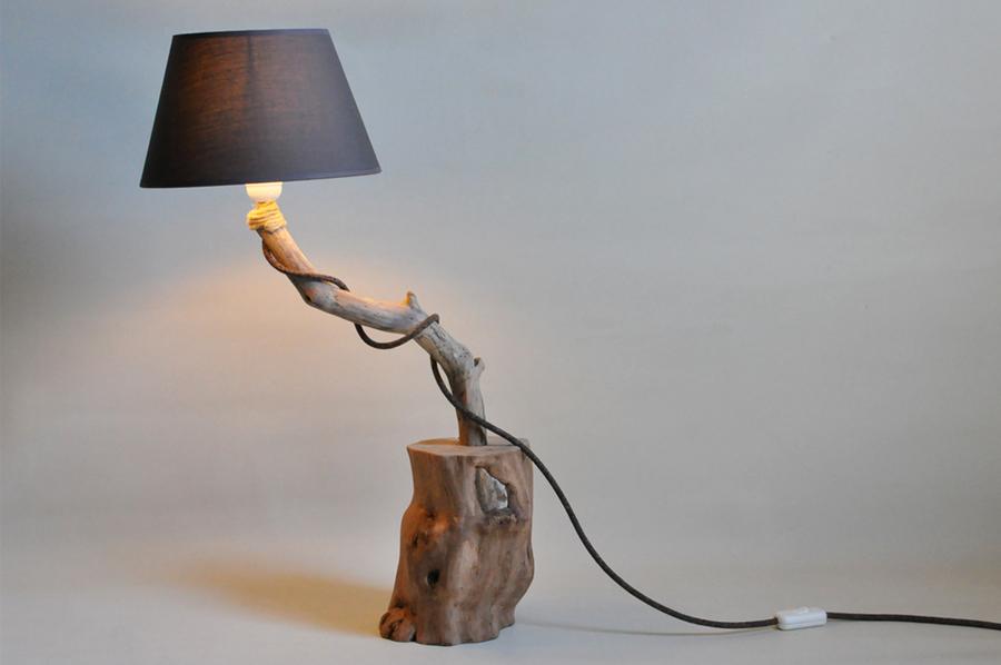 Lampade da tavolo in legno con paralume - Livyng Ecodesign