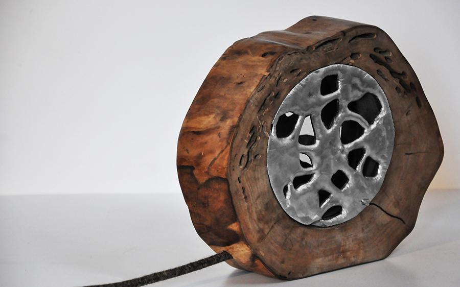 Lampade da tavolo in legno con paralume livyng ecodesign - Lampada da tavolo artigianale ...