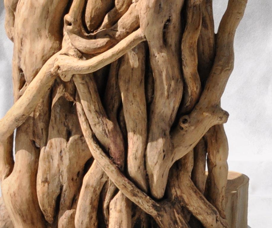 particolare libreria albero totem