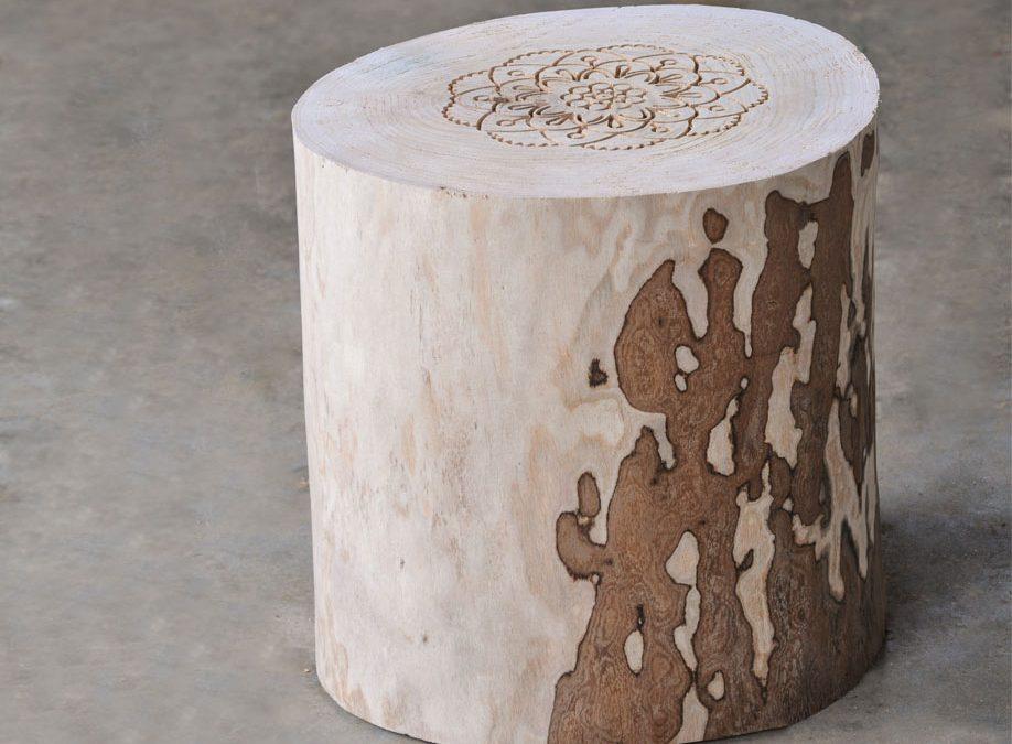Remix sgabello collezione remix by il giardino di legno design