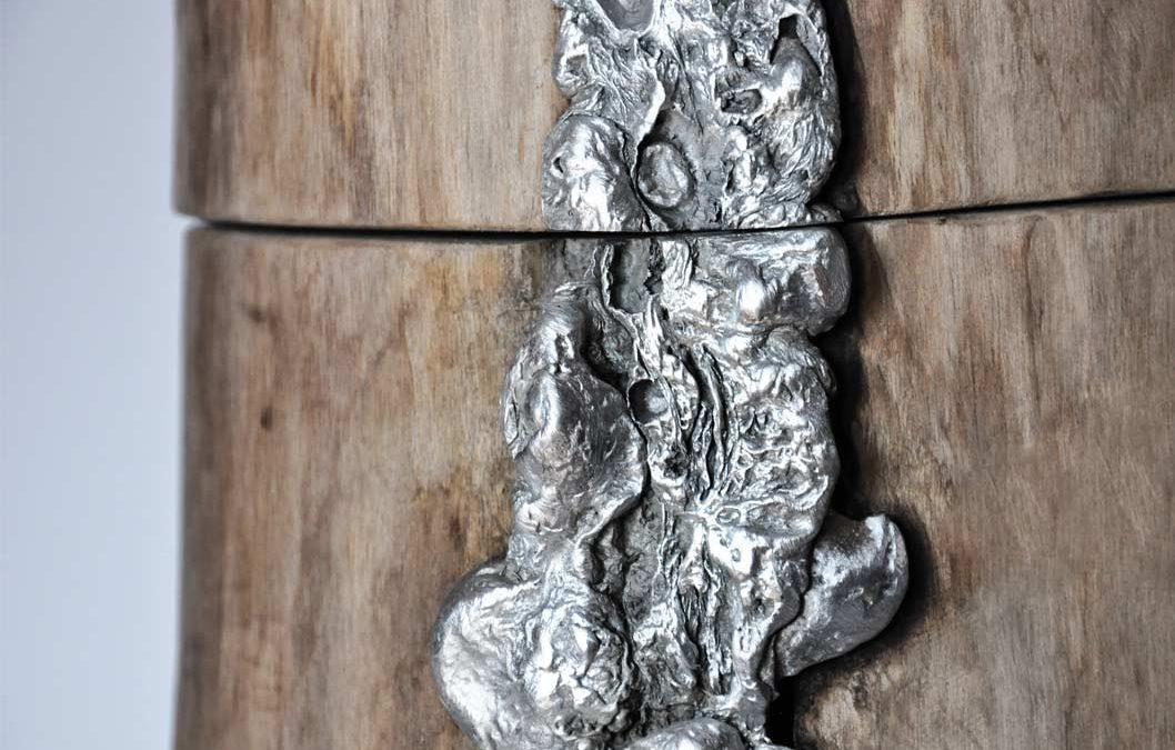 Contenitore in legno e alluminio Pandora