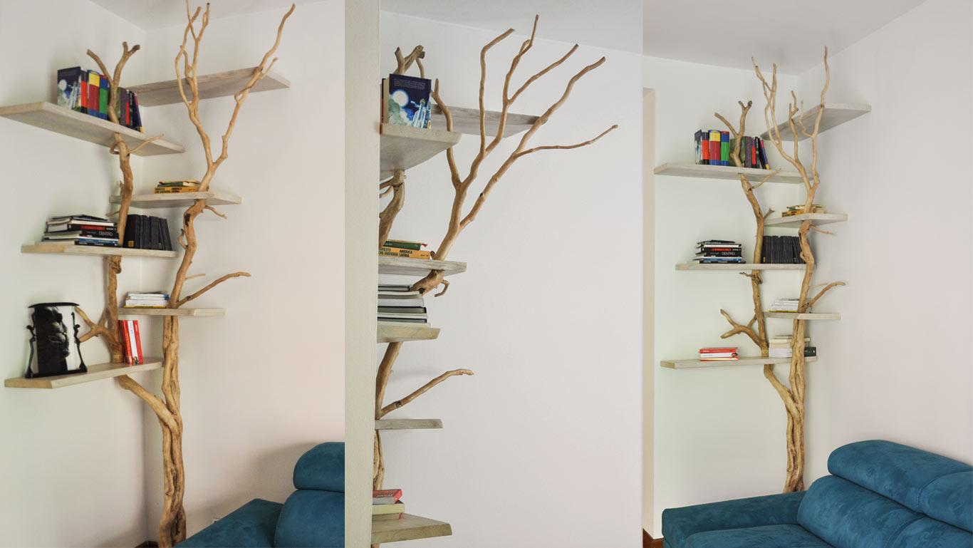 Librerie Angolari Legno.Libreria Albero Realizzabile Su Misura Livyng Ecodesign