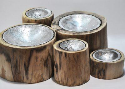 Contenitore in legno e alluminio Moody