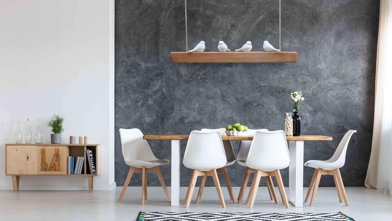 Lampade Sopra Tavolo Da Pranzo lampada a sospensione in legno e porcellana - cocò trapezio